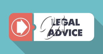 Legal Advice on Blue in Flat Design with Long Shadows.