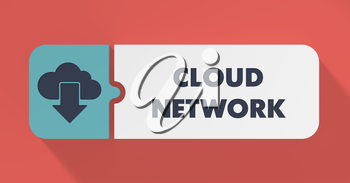 Cloud Network Concept in Flat Design with Long Shadows.