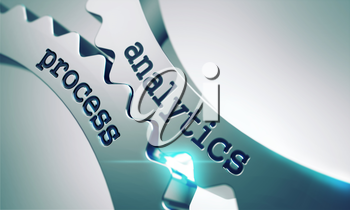 Analytics Process Concept on the Mechanism of Shiny Metal Gears.