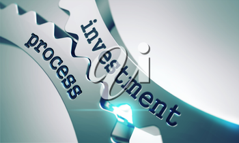 Investment Process Concept on the Mechanism of Metal Gears.