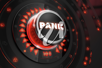 Royalty Free Clipart Image of a Panic Button