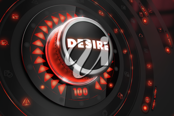Royalty Free Clipart Image of a Desire Button