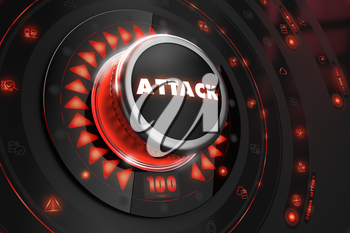 Royalty Free Clipart Image of an Attack Button