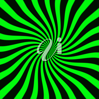 Starburst background, sunbeams going in all directions, green and black