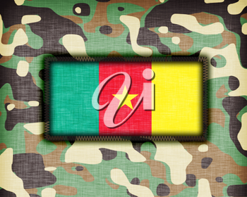 Amy camouflage uniform with flag on it, Cameroon