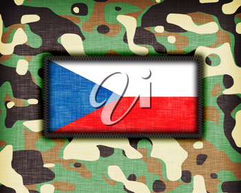 Amy camouflage uniform with flag on it, The Czech Republic