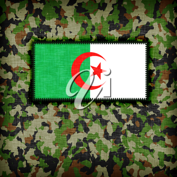 Amy camouflage uniform with flag on it, Algeria