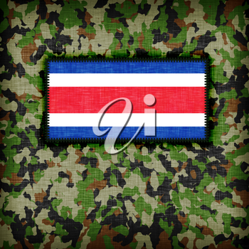 Amy camouflage uniform with flag on it, Costa Rica