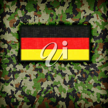 Amy camouflage uniform with flag on it, Germany