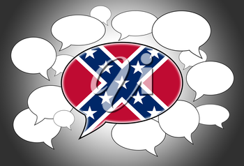 Speech bubbles concept - the flag of the Confederacy