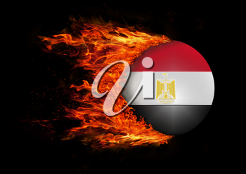 Concept of speed - Flag with a trail of fire - Egypt