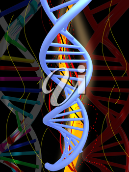 DNA structure model background
