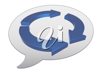 messenger window icon and Blue arrows