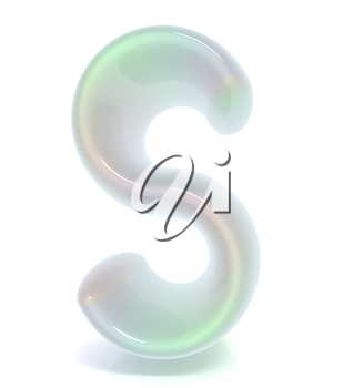 Glossy alphabet. The letter S