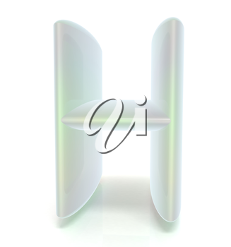 Glossy alphabet. The letter H