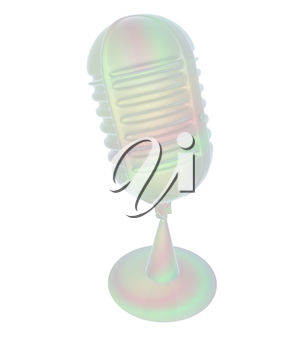 3d rendering of a microphone