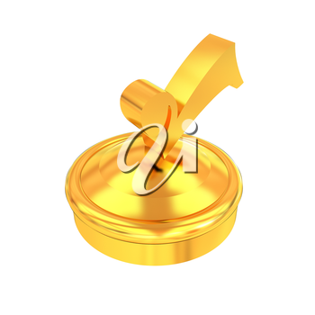 illustration of gold checkmark on isolated background