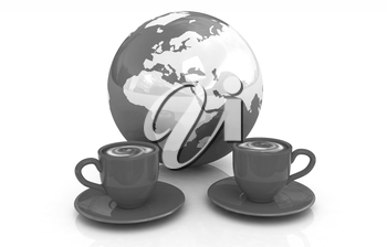 Coffee Global World concept on a white background