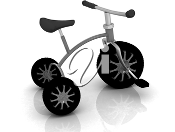 children bicycle on a white background