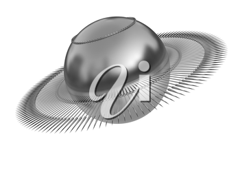 3d fantastic object with the ball