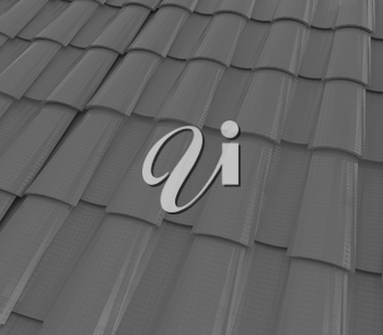 3d red roof tiles