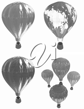 Air Balloons set on a white background
