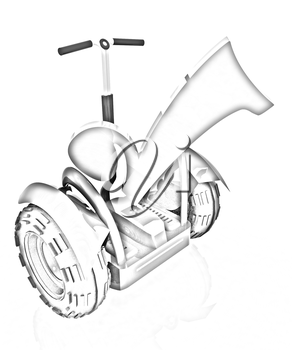 The best choice personal and ecological transport on a white background