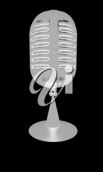 microphone icon on a black background