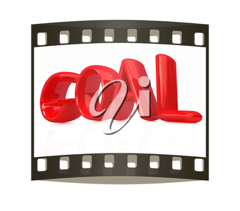 The word Goal on a white background. The film strip