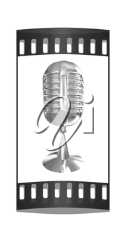 Chrome Microphone icon on a white background. The film strip