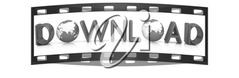 word Download on a white background. The film strip