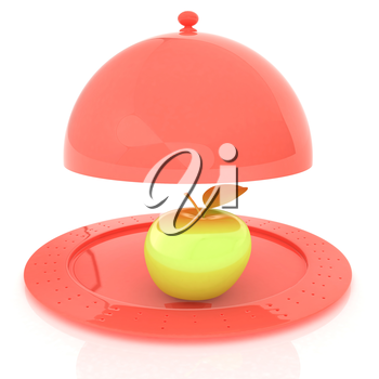 Serving dome or Cloche and apple