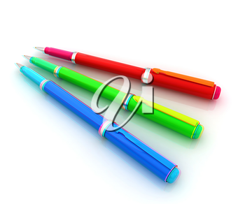 corporate pen design . 3D illustration. Anaglyph. View with red/cyan glasses to see in 3D.