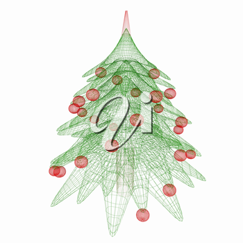 Christmas tree concept. 3d illustration