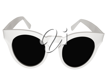 Cool metal sunglasses. 3d illustration