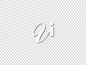 Chain link fence pattern. Industrial style wallpaper. Realistic geometric texture. Graphic design element for corporate identity, web sites, catalog. Steel wire wall isolated on white. 3D illustration