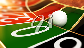 Casino roulette on zero. 3D illustration