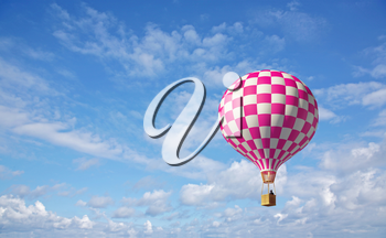 3d balloon in the blue sky