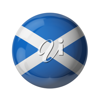 3D flag of Scotland isolated on white