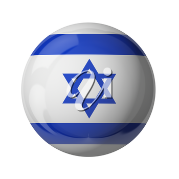 3D flag of Israel isolated on white