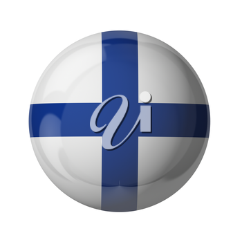 3D flag of Finland isolated on white