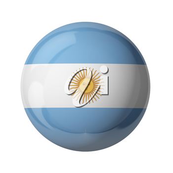 3D flag of Argentina isolated on white