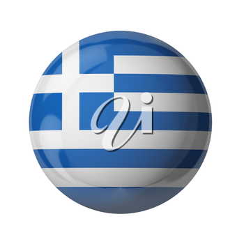 3D flag of Greece isolated on white