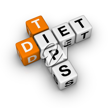 Diet Tips   (3D crossword orange series)