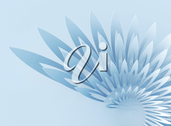 Light blue abstract background with wing-shaped geometric structure