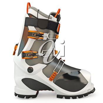 Rubber boots with locks on a white background isolated