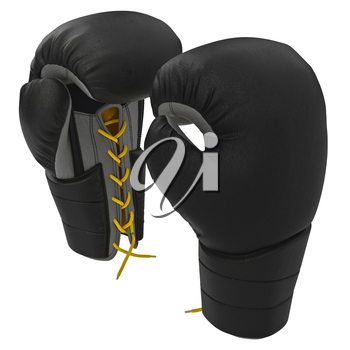 Sports gloves for boxers. 3D graphic object on white background isolated