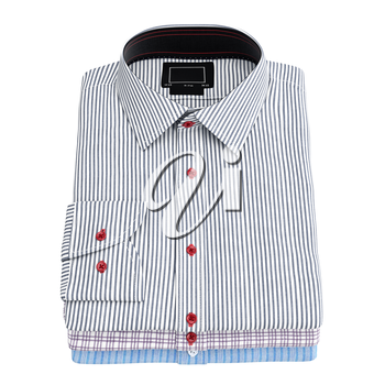 Men's stacked striped shirt. 3D graphic object on white background isolated