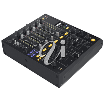 Digital audio equipment with buttons control parameters. 3D graphic
