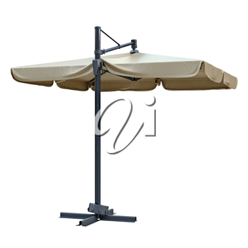 Open beach umbrella for sun protection. 3D graphic